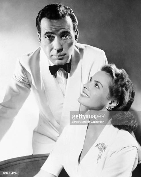 Humphrey Bogart and Ingrid Bergman in a promotional portrait for Casablanca' directed by Michael Curtiz 1942