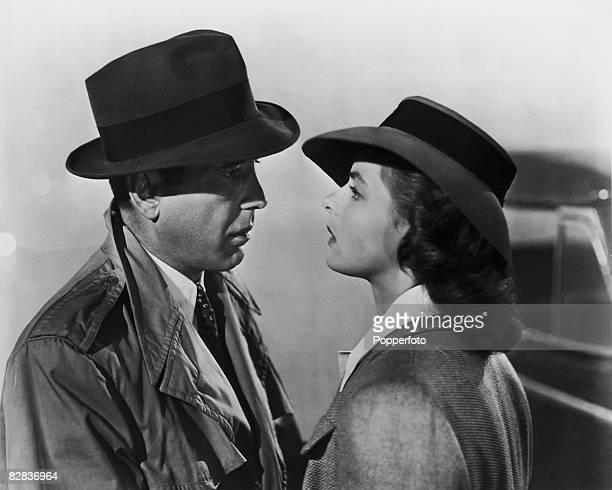 Humphrey Bogart and Ingrid Bergman star in the Warner Brothers film 'Casablanca' 1942