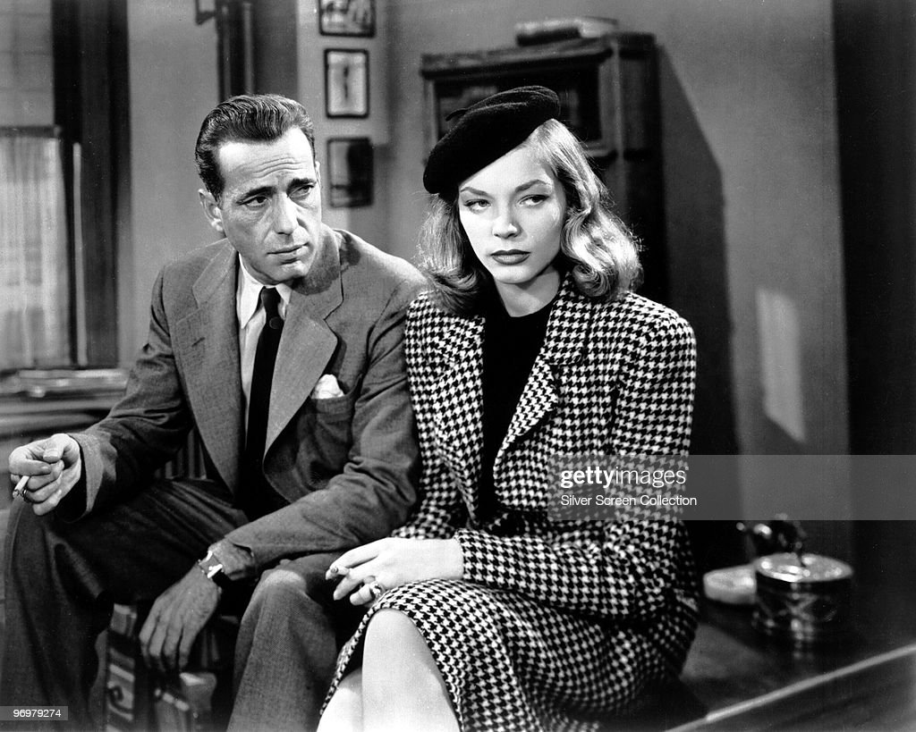 Humphrey Bogart as Philip Marlowe and Lauren Bacall as Vivian Rutledge in 'The Big Sleep' 1946