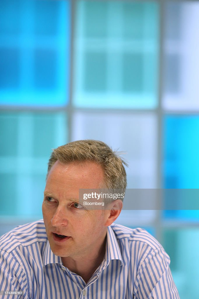 Humphrey Singer, group finance director of Dixons Retail Plc, speaks during an interview in London, U.K. on Thursday, July 25, 2013. The owner of the PC World and Currys chains is training staff to improve customer relations and is selling higher-margin services to overcome cheaper online competitors. Photographer: Chris Ratcliffe/Bloomberg via Getty Images