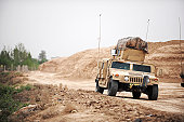 April 9, 2009 - A Humvee conducts security during a patrol in the Iraqi village of Bakr, in support of Operation Iraqi Freedom.