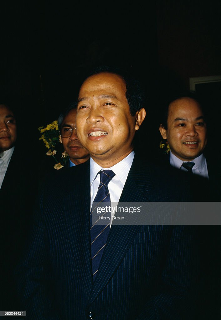 Hun Sen prime minister of Cambodia is in FereenTardenois France to meet with Cambodia's former king and head of state Norodom Sihanouk The two...