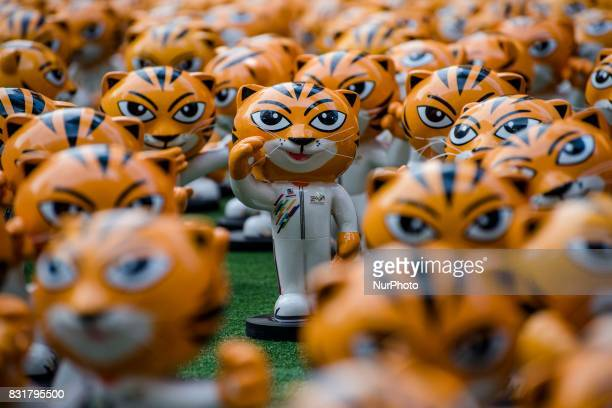 Hundred of RIMAU sculptures are displayed at outside of Publika shopping complex in Kuala Lumpur Malaysia on August 15 2017 RIMAU is the official...