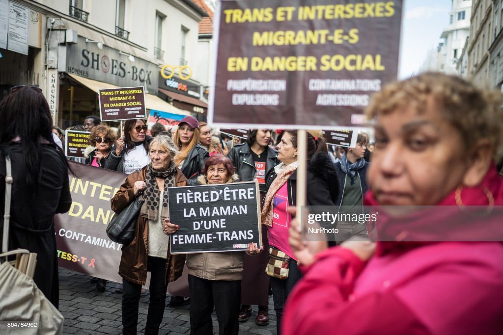 Transexual community rally in Paris