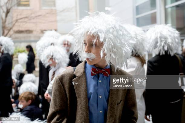 TORONTO ON MARCH 28 Hundreds of Albert Einstein Lookalikes set a Guinness World Record for âLargest Gathering of Albert Einstein Lookalikesâù âThe...