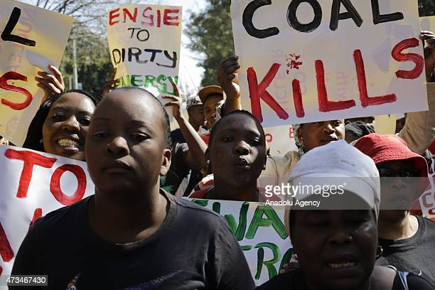 Hundreds of demonstrators march to the French Consulate to demand that the French government and the French company Engie stop supporting dirty coal...