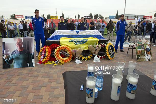 Hundreds of fans gather at Tel Aviv's Ramat Gan national stadium to pay their last respects to football icon and former Liverpool player Avi Cohen on...