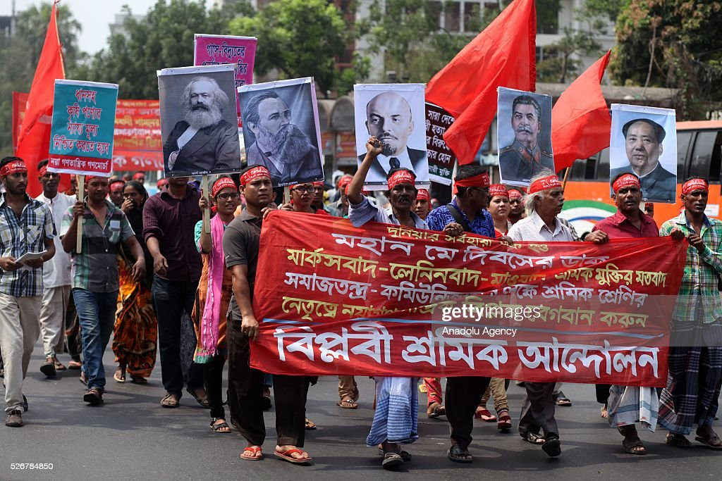 Hundreds of garment workers and other labor organization members take part in a rally to mark May Day, International Workers' Day in Dhaka, Bangladesh on May 01, 2016. Every year May Day is observed and commemorated through many ceremonies, meetings, seminars and promises in Bangladesh.