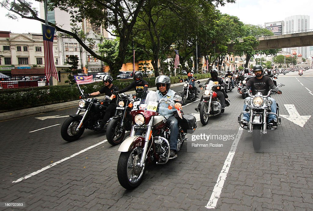 Hundreds of Harley Davidson's enthusiasts join the bike parade in the heart of the city on September 16, 2013 in Kuala Lumpur, Malaysia. Malaysia hosts Asia Harley Days, a first of its kind event in Southeast Asia to engage with not only its consumers, but also with their fans in the region.