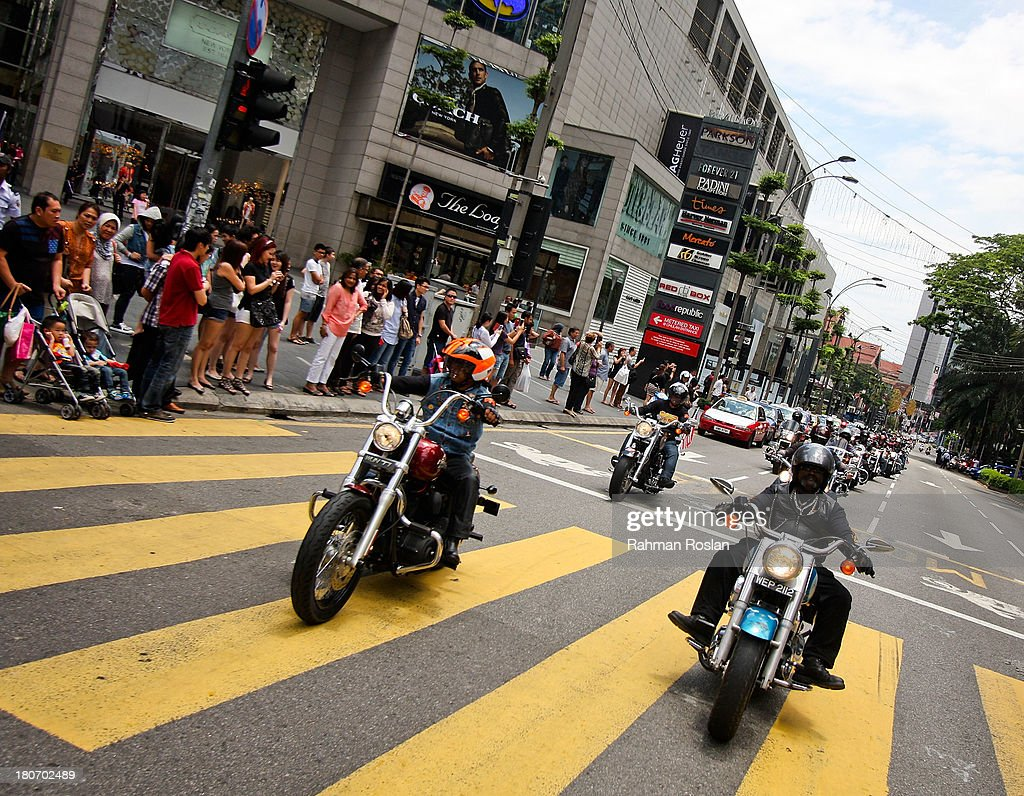 Hundreds of Harley Davidson's riders join the bike parade in the heart of the city on September 16, 2013 in Kuala Lumpur, Malaysia. Malaysia hosts Asia Harley Days, a first of its kind event in Southeast Asia to engage with not only its consumers, but also with their fans in the region.