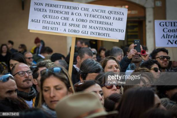 Hundreds of Italian tourist guides held a rally in Piazza Montecitorio to protest against the Italian government that says that you don't need any...