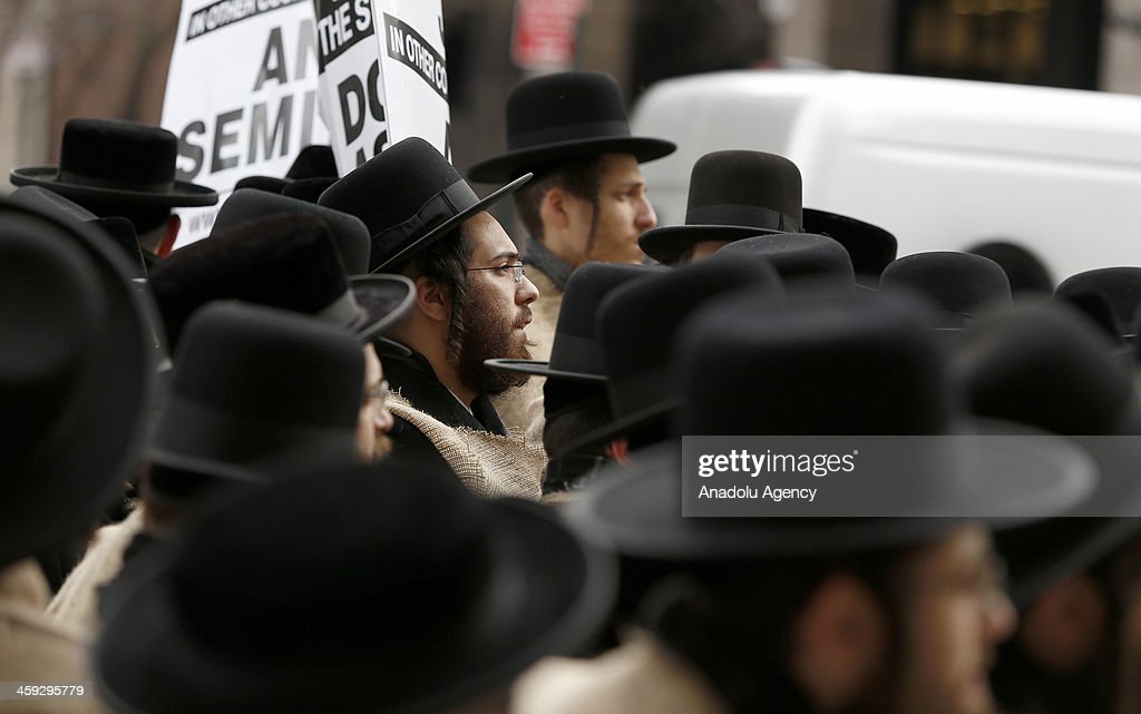 Hundreds of Orthodox Jewish students marched to the Israeli Consulate in New York City to protest against the Israel's Middle East politics and...