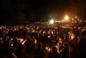 Hundreds of people gather for a vigil in Roseburg Oregon on October 1 for ten people killed and seven others wounded in a shooting at a community...