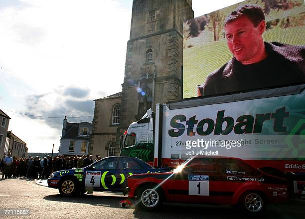 Hundreds of people have gathered in Lanark to pay tribute to former World Rally champion Colin McRae who died two weeks ago September 30 2007 in...