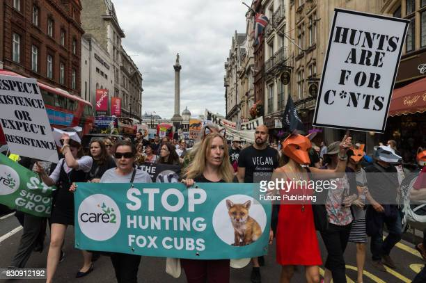 Hundreds of people marched through central London in protest against badger culling fox cubbing and driven grouse shooting Protesters called on the...