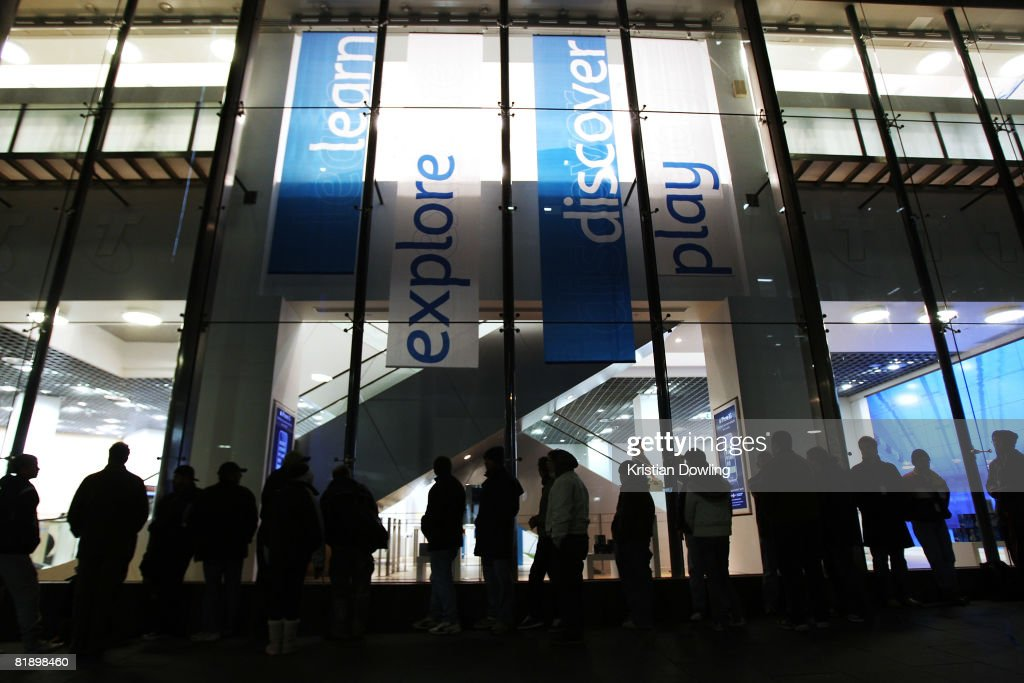 Hundreds of people wait in line to purchase the new Apple iPhone 3G at the Bourke Street T Life store on July 11, 2008 in Melbourne, Australia. The iPhone 3G is a multimedia mobile device with a touch screen that enables e-mail and web browsing.