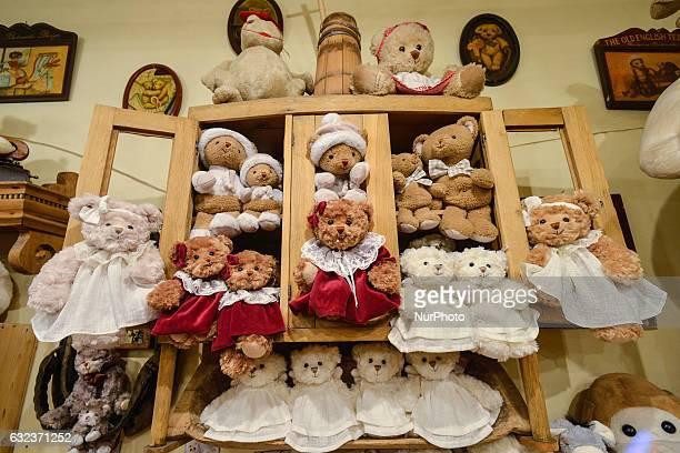 Hundreds of plush teddies on display inside Galeria Bukowski store in Sienna street in Krakow On Friday 20 January 2017 in Krakow Poland