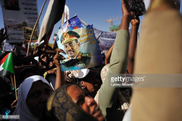 Hundreds of Sudanese demonstrate at the Cabinet Building against the International Criminal Court's announcement of an arrest warrant for Sudanese...