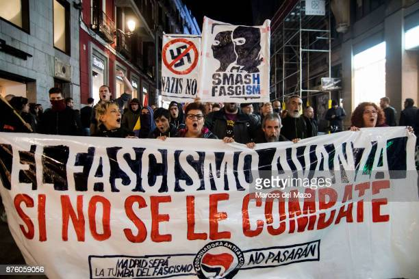 Hundreds protesting against fascism under the slogan 'Fascism advances if it is not fought'