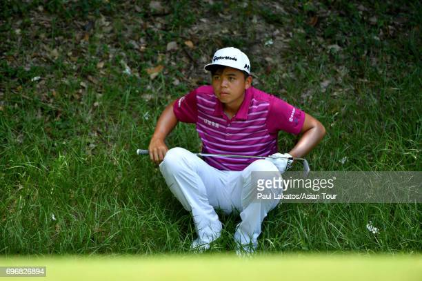 Hung Chien Yao of Chinese Taipei during round three of the Queen's Cup at Santiburi Samui Country Club on June 17 2017 in Bangkok Thailand