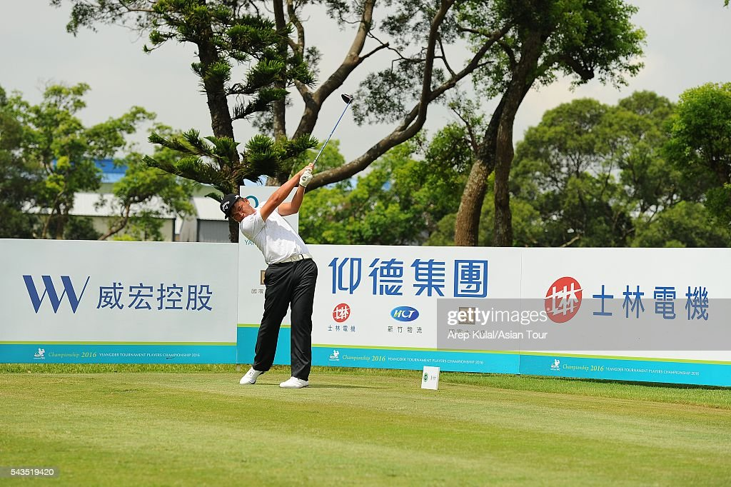 Hung Chien Yao of Chinese Taipei pictured during the ProAM tournament ahead of Yeangder Tournament Players Championship at Linkou International Golf Club on June 29, 2016 in Taipei, Taiwan.