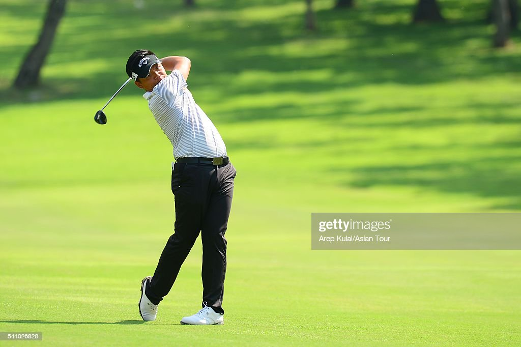Hung Chien-yao of Chinese Taipei pictured during the round 2 of the Yeangder Tournament Players Championship 2016 at Linkou International Golf Club on July 1, 2016 in Taipei, Taiwan.