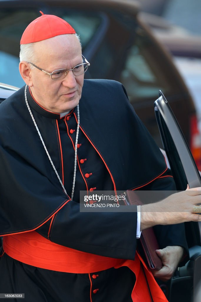 Hungarian cardinal Peter Erdo arrives for talks ahead of a conclave to elect a new pope on March 4, 2013 at the Vatican. The Vatican meetings will set the date for the start of the conclave this month and help identify candidates among the cardinals to be the next leader of the world's 1.2 billion Catholics.