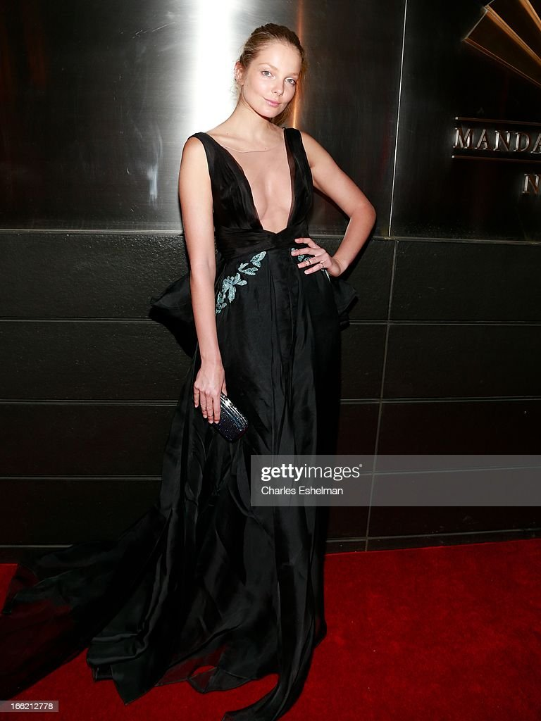 Hungarian model Eniko Mihalik attends the New Yorker's For Children's 10th Anniversary A Fool's Fete Spring Dance at Mandarin Oriental Hotel on April 9, 2013 in New York City.