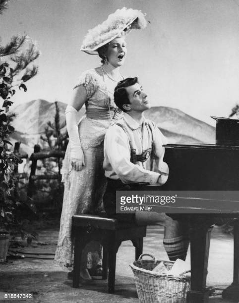 Hungarian opera singer Sari Barabas accompanied by Laurie Payne during dress rehearsals for a BBC production of Ivor Novello's musical 'The Dancing...