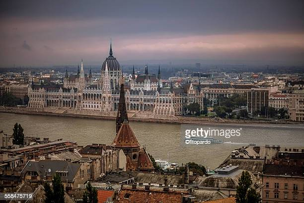 Hungarian Parliament Building across the Danube