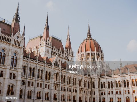 Hungarian Parliament Building in Budapest Hungary : Foto de stock