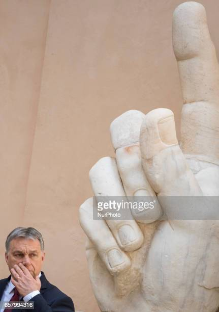 Hungarian Prime Minister Viktor Orban during an EU summit in Rome on Saturday March 25 2017 European Union leaders were gathering in Rome to mark the...