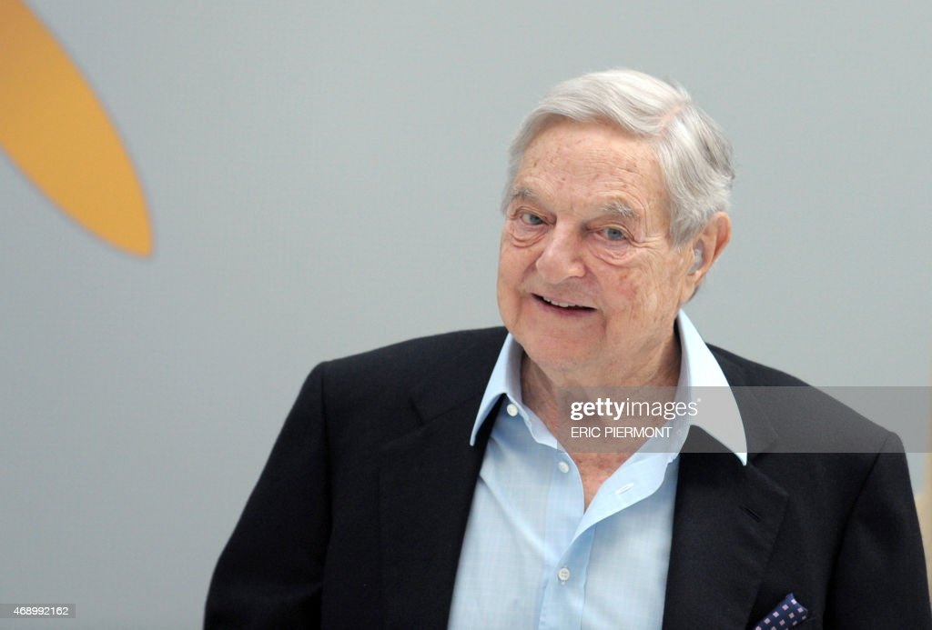 Hungarian-born US chairman of the Soros Fund Management, <a gi-track='captionPersonalityLinkClicked' href=/galleries/search?phrase=George+Soros&family=editorial&specificpeople=212841 ng-click='$event.stopPropagation()'>George Soros</a>, arrives to attend a session of the 6th annual conference of the Institute for new economic thinking (INET) at the OECD headquarters in Paris on April 9, 2015.