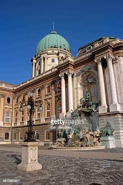 Hungary Budapest Castle Hill District Saint Georges Square Castle and Palace complex King Matyas Fountain