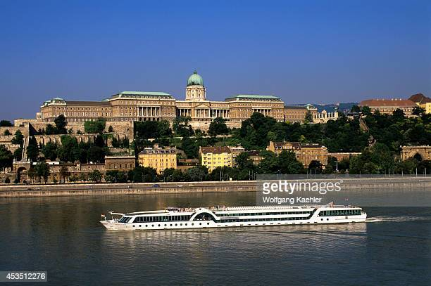 Hungary Budapest Danube River View Of The Palace Of Buda Cruise Ship Amadeus Classic