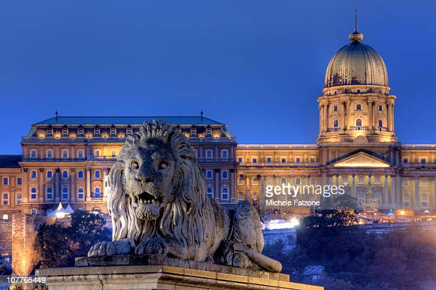 Hungary, Budapest, night view