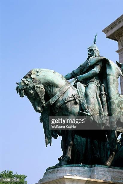 Hungary Budapest Pest Hero's Square Statue