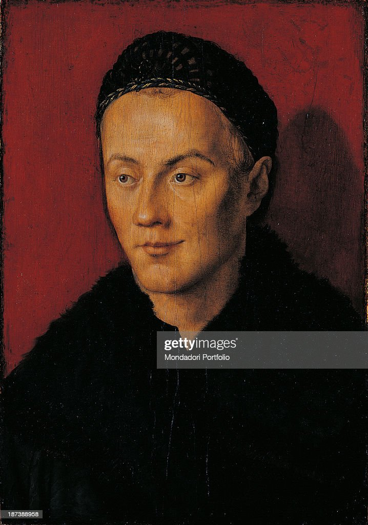 Hungary, Budapest, Szépmuvészeti Múzeum (Museum of Fine Arts), All, Portrait of a man smiling and wearing a hat and a black robe,