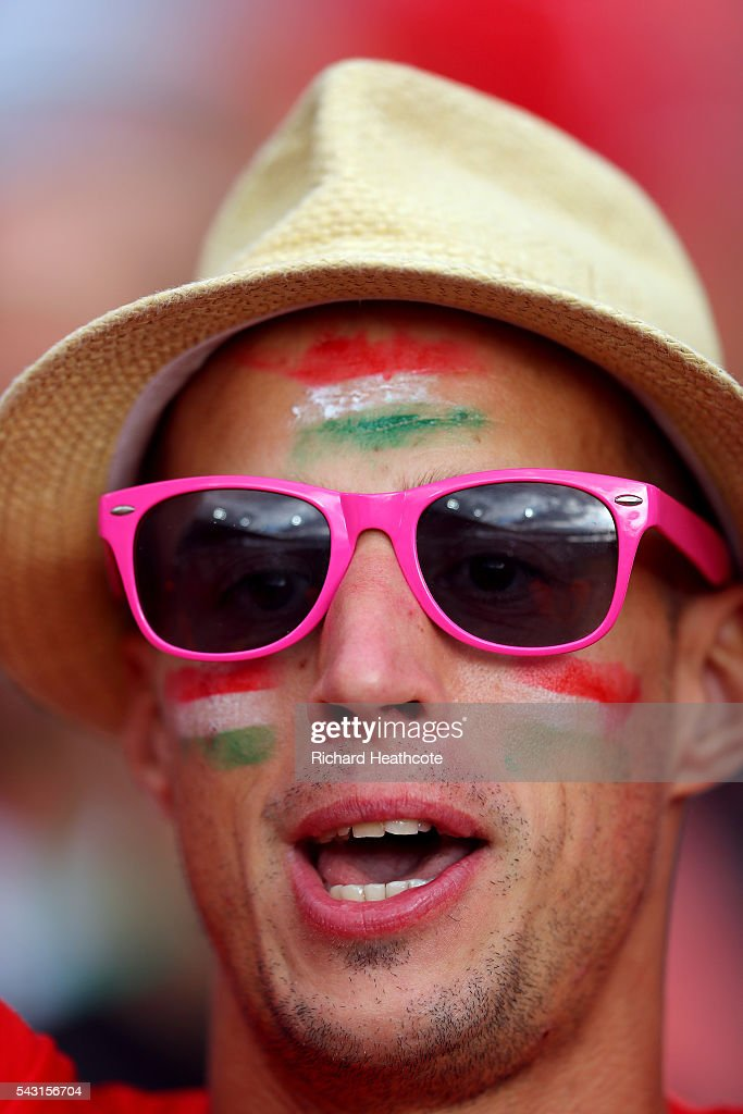 Hungary supporters enjoy the atmosphere prior to the UEFA EURO 2016 round of 16 match bewtween Hungary and Belgium at Stadium Municipal on June 26, 2016 in Toulouse, France.