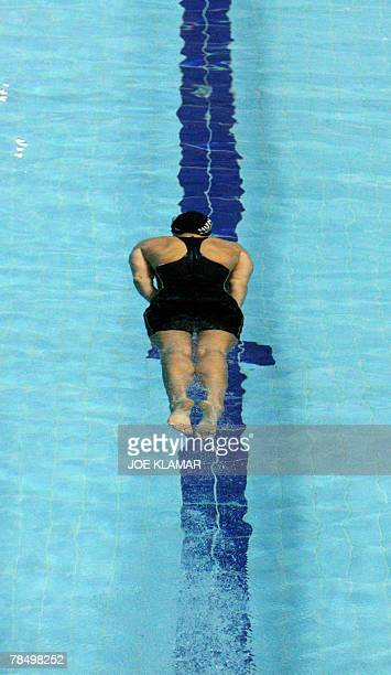 Hungary's Agnes Kovacs competes in the women's 100m breaststroke qyalifier heat during the European short course swimming championships in Debrecen...
