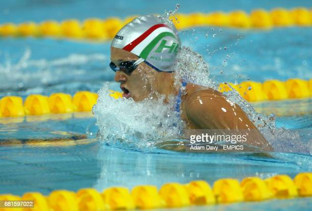 Hungary's Agnes Kovacs in action during her semi final heat of the Women's 200m Breastroke