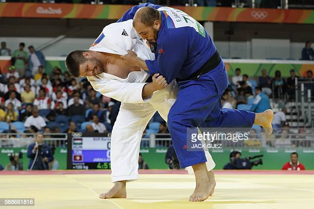 Hungary's Barna Bor competes with Tunisia's Faicel Jaballah during their men's 100kg judo contest match of the Rio 2016 Olympic Games in Rio de...