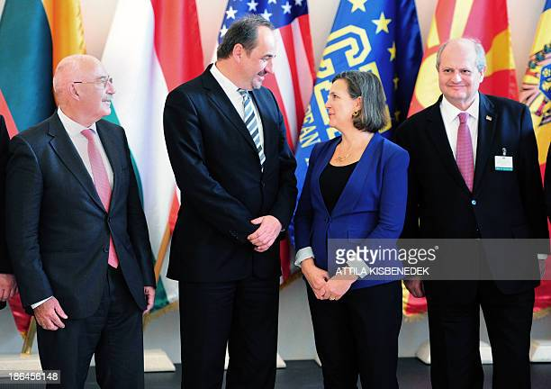 Hungary's Foreign Minister Janos Martonyi Czech Republic's Foreign Minister Jan Kohout US Assistant Secretary of State for European and Eurasian...