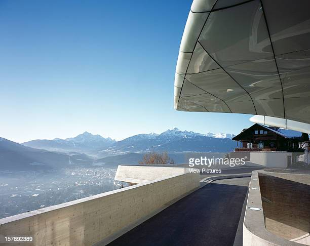 Hungerburgbahn Stations Innsbruck Austria Architect Zaha Hadid Hungerburgbahn Station Exterior View With Snow Capped Alps