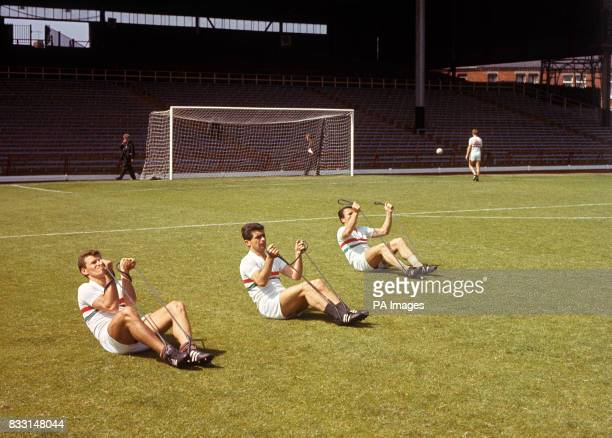 Hunrgy players in training at Roker Park home of Sunderland FC