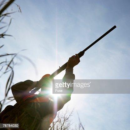 Hunter Aiming Shotgun Stock Photo | Getty Images