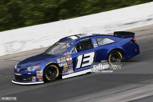 Hunter Baize driver of the Reynolds Wrap Chevrolet on the track during qualifying for the NASCAR KN Pro Series East at Thompson Speedway Motorsports...