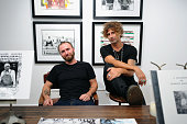 Hunter Barnes and Todd DiCiurcio attend the opening reception of Americana No Depression at Melet Mercantile Gallery on October 15 2014 in New York...