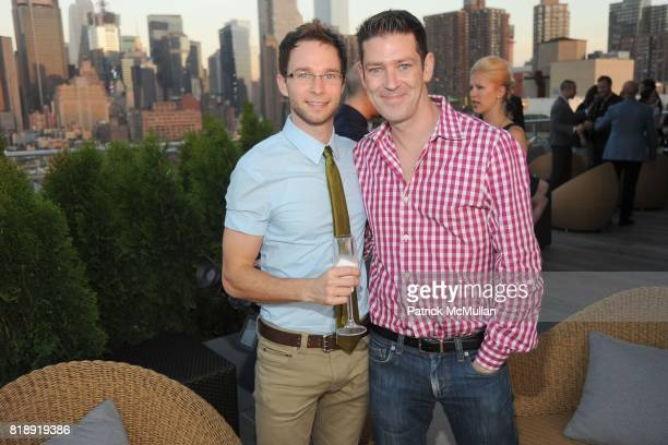 Hunter Gilmore and Eddie Roche attend SWAROVSKI Celebrates the 2010 CFDA Fashion Award Nominees and Honorees at Ink48 Hotel on May 24 2010 in New...