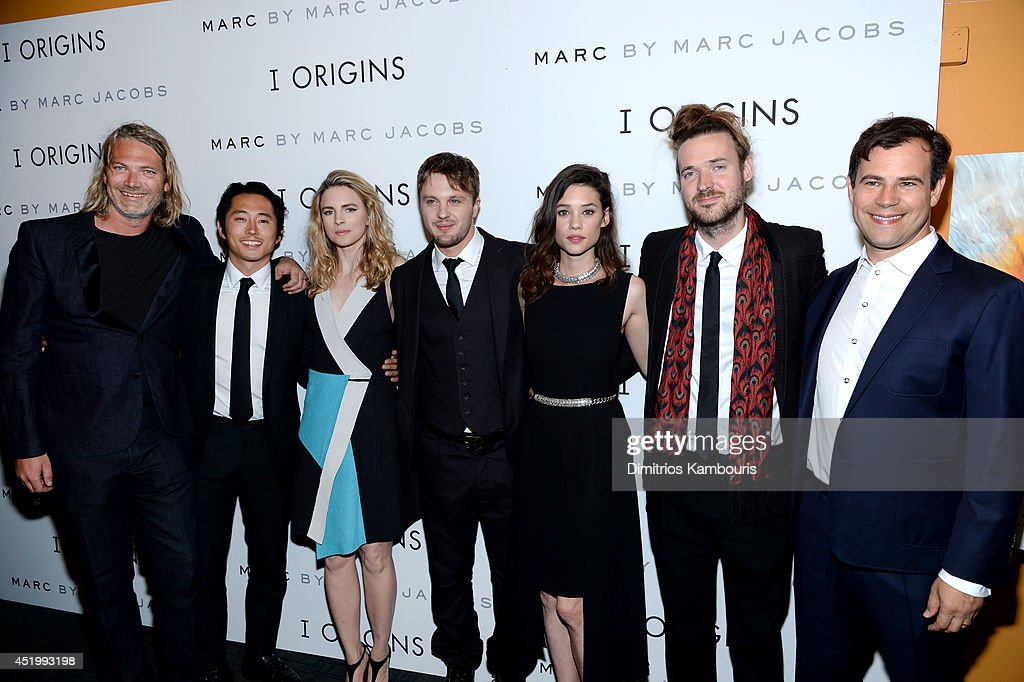 Hunter Gray, <a gi-track='captionPersonalityLinkClicked' href=/galleries/search?phrase=Steven+Yeun&family=editorial&specificpeople=7249223 ng-click='$event.stopPropagation()'>Steven Yeun</a>, <a gi-track='captionPersonalityLinkClicked' href=/galleries/search?phrase=Brit+Marling&family=editorial&specificpeople=701867 ng-click='$event.stopPropagation()'>Brit Marling</a>, <a gi-track='captionPersonalityLinkClicked' href=/galleries/search?phrase=Michael+Pitt&family=editorial&specificpeople=207164 ng-click='$event.stopPropagation()'>Michael Pitt</a>, Astrid Bergès-Frisbey, <a gi-track='captionPersonalityLinkClicked' href=/galleries/search?phrase=Mike+Cahill+-+Director+-+Born+1979&family=editorial&specificpeople=12938546 ng-click='$event.stopPropagation()'>Mike Cahill</a>, and <a gi-track='captionPersonalityLinkClicked' href=/galleries/search?phrase=Alex+Orlovsky&family=editorial&specificpeople=3039906 ng-click='$event.stopPropagation()'>Alex Orlovsky</a>, attend the 'I Origins' screening at Sunshine Landmark on July 10, 2014 in New York City.